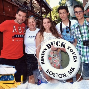 Our students from Spain Pablo, Joseph, David & Claudia, with our Director of Summer Camp and Esl Quenia