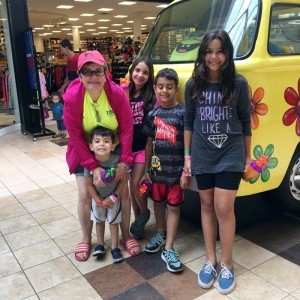 TessUSA Summer Camp- Luisa, Sofia and Carlos Henrique with our Ceo Tess Reisler